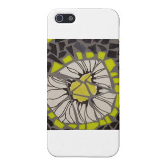 Black and Yellow Flower Mosaic iPhone 5/5S Cases