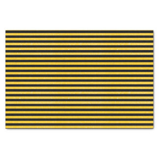 Black and Yellow Glittery Stripes Tissue Paper
