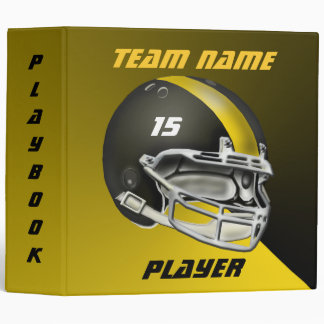 Black and Yellow Gold Football Helmet Binder