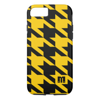 Black And Yellow Houndstooth Geometric Pattern iPhone 7 Case