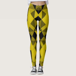 Black and Yellow Mosaic Leggings