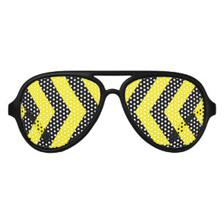 Black and yellow party shades