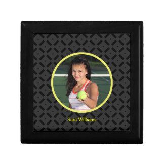 Black and Yellow Photograph Tile Box Gift Boxes