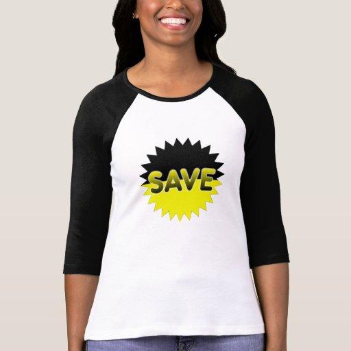 Black and Yellow Save Shirt