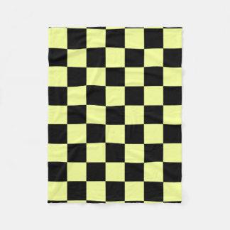 Black and Yellow Squares Fleece Blanket
