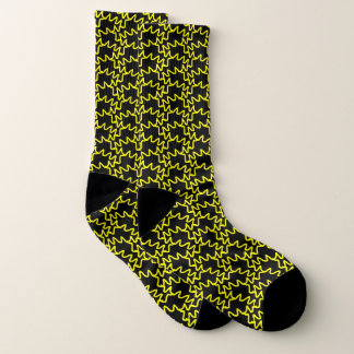 Black and Yellow Squiggles Pattern 1
