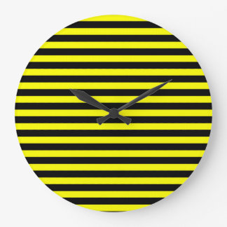 Black and Yellow Striped Clock