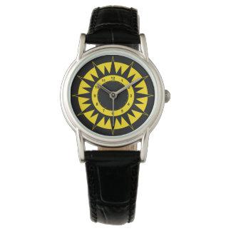 Black and Yellow Sun Watch