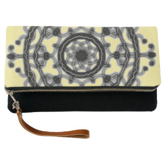 Black and Yellow ~Tech~Lace~ blossom ~ Clutch