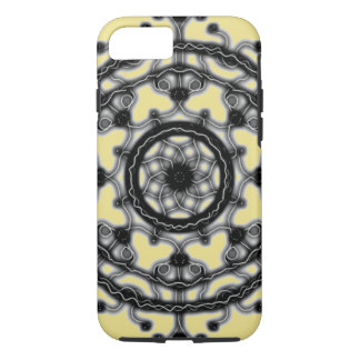 Black and Yellow Tech lace blossom ~ iPhone 8/7 Case