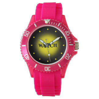 Black and Yellow Ticker Wrist Watch