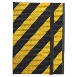 Black And Yellow Traffic Stripe Premium iPad Case