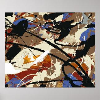 Black Angel- Expressionist Fine Art Poster- Poster