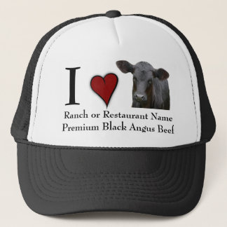 Black Angus Beef  - I love design Trucker Hat