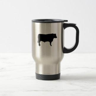 Black Angus Bull Travel Mug