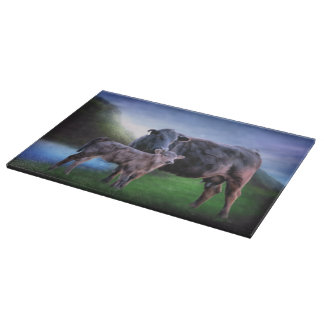 Black Angus Cow and Calf Boards
