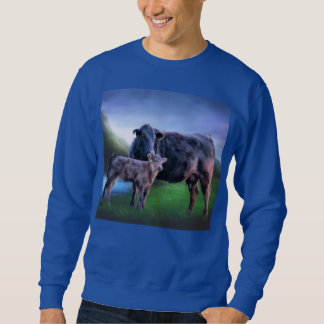 Black Angus Cow and Calf Sweatshirt