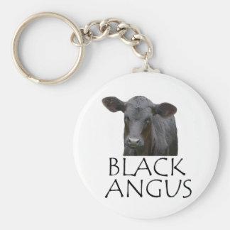 Black Angus Cow Keychain