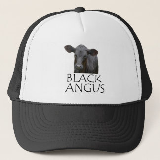 Black Angus Cow Trucker Hat