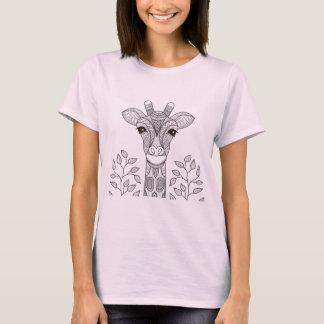 Black animal deer flower leaves T-Shirt