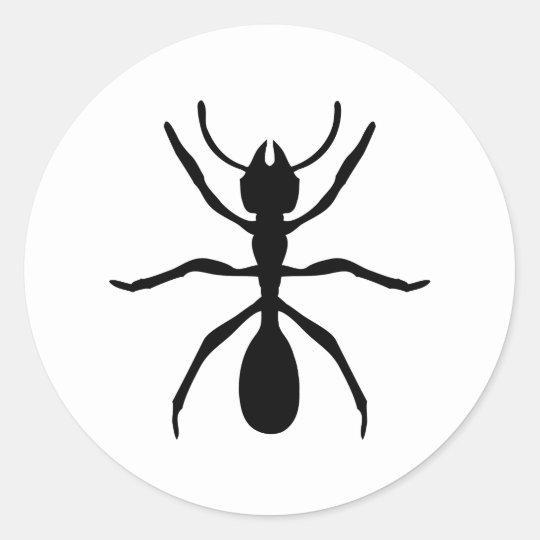 black ant classic round sticker