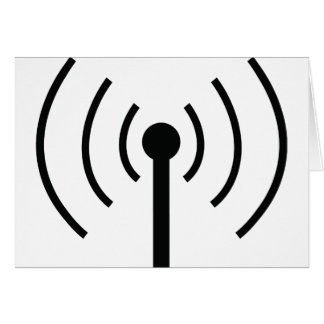 black antenna icon card