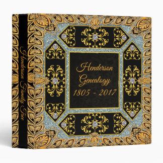 Black Antique Genealogy Family Tree Binder Album