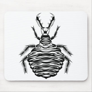 Black antlion mouse pad
