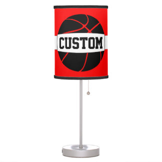 Black + Any Color Custom Basketball Table Lamp