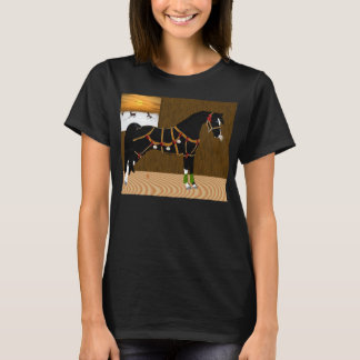 Black Arabian Horse Christmas T-Shirt