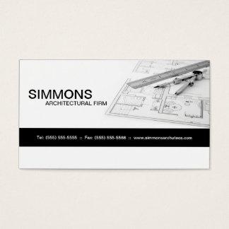 Black Architectural Blue Print Business Card