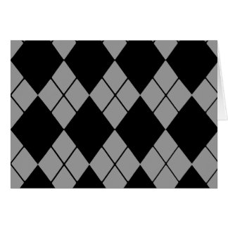 Black Argyle Card