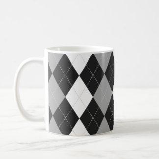 Black Argyle Mug