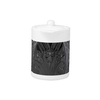 Black Art Deco Glass Lizard Vase