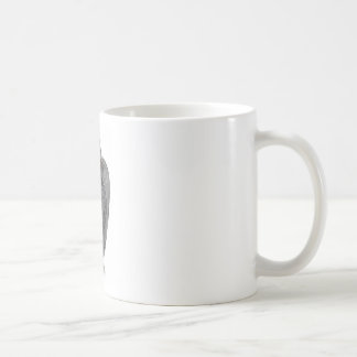 Black Art Deco Glass Lizard Vase Coffee Mug