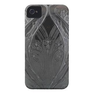 Black Art Deco Glass Lizard Vase iPhone 4 Case