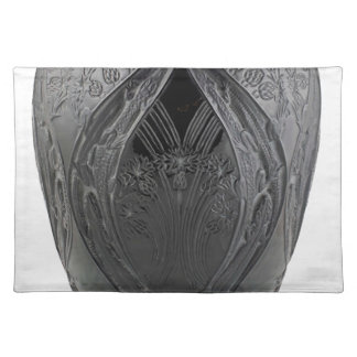 Black Art Deco Glass Lizard Vase Place Mats