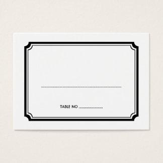 Black art deco retro wedding guest seating cards