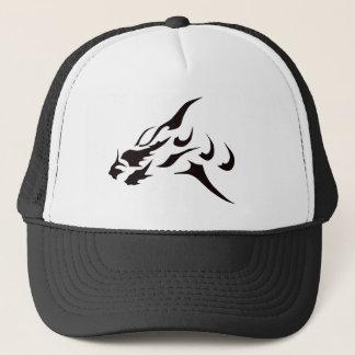 BLACK ART DRAGON TATTOO DESIGN PRINT TRUCKER HAT