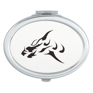 BLACK ART TATTOO DESIGN DRAGON COMPACT MIRROR