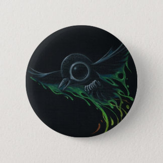 Black as pitch 2 inch round button