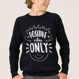Black Attitude Quote Happy Face Dreams Boys Sweatshirt