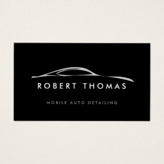 BLACK AUTO DETAILING, AUTO REPAIR BUSINESS CARD