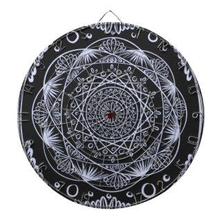 Black, Awakening zen pattern, healing, chakra Dartboard