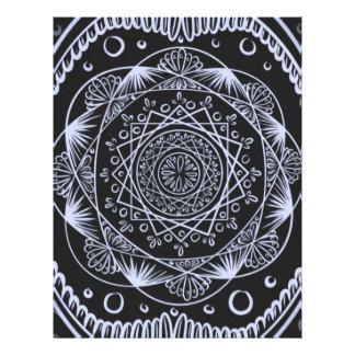 Black, Awakening zen pattern, healing, chakra Letterhead