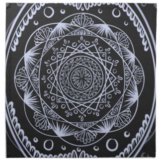 Black, Awakening zen pattern, healing, chakra Napkin