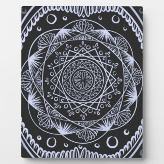 Black, Awakening zen pattern, healing, chakra Plaque