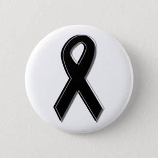 Black Awareness Ribbon 2 Inch Round Button
