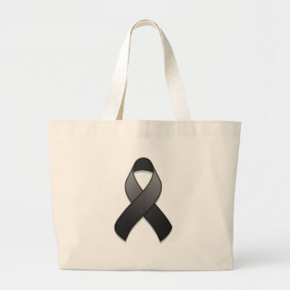 Black Awareness Ribbon Bag