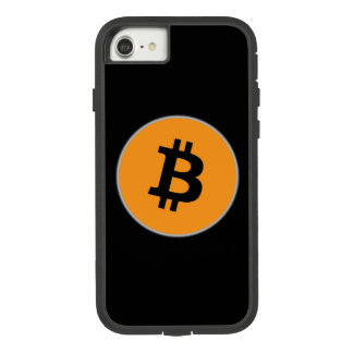 Black B Bitcoin Symbol Tough iPhone 7 Case